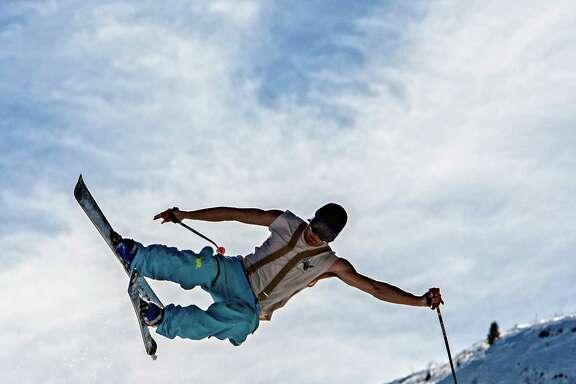 Flying high brings joy for freestyle skiers at Keystone Resort in Colorado.