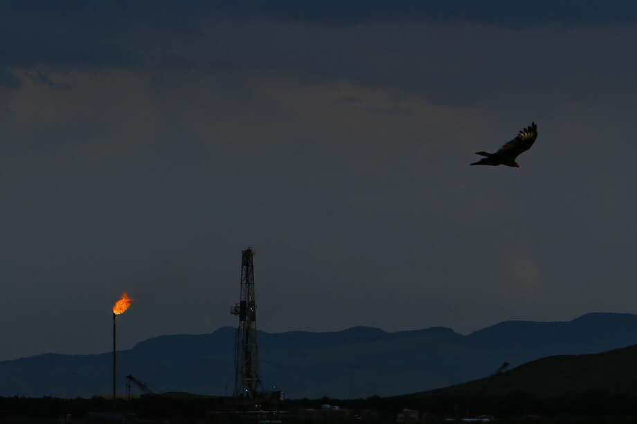 An Apache Corp. drilling rig sits north of the Davis Mountains in this 2016 file photo. Private equity-backed firms will be focused on development projects in the aftermath of the oil and gas downturn. Photo: Michael Ciaglo/Houston Chronicle
