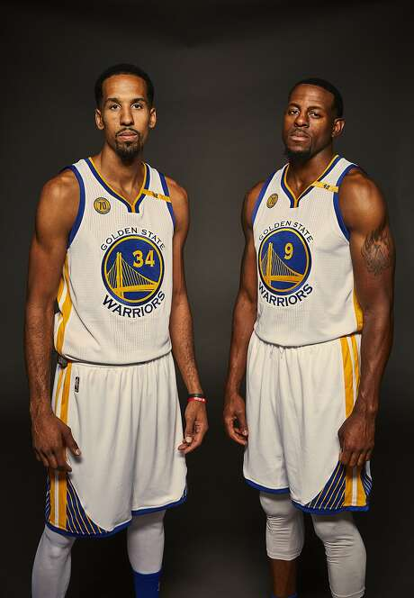 Golden State Warriors Guard Shaun Livingston and Guard-Forward Andre Iguodala are seen during media day on Monday, Sept. 26, 2016 in Oakland, Calif. Photo: Russell Yip, The Chronicle