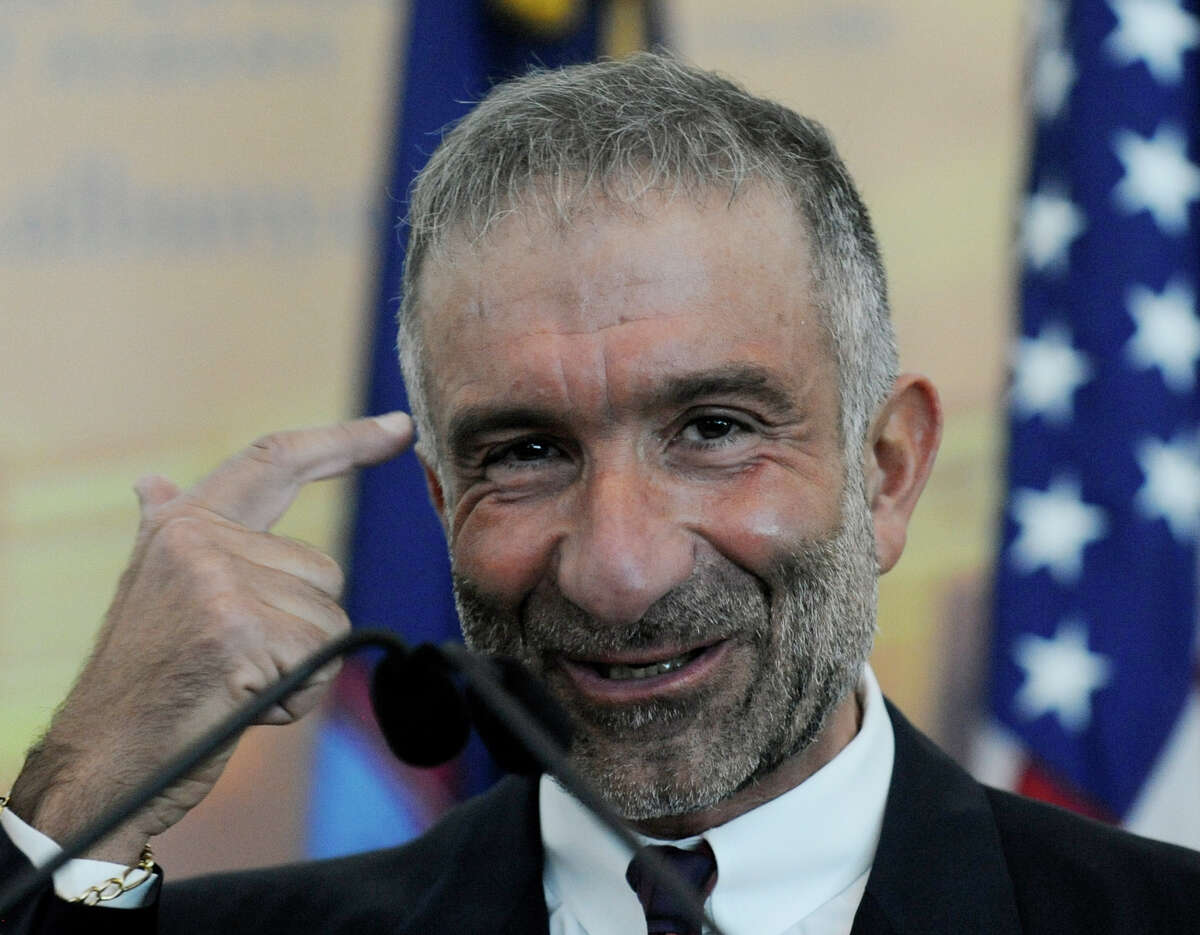 Alain E. Kaloyeros gestures while speaking during the College of Nanoscale Science and Engineering (CNSE) of the University at Albany's opening of a $3.5 million initiative on Dec. 14, 2009, in Albany, N.Y. (Skip Dickstein/Times Union archive)