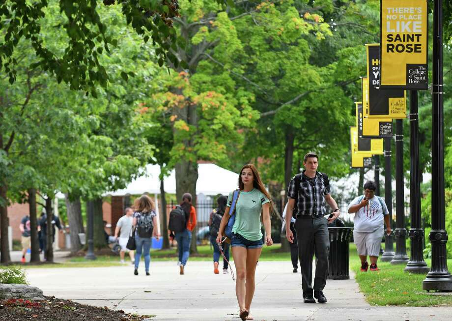 The College of Saint Rose campus on Thursday Sept. 8, 2016 in Albany, N.Y. (Michael P. Farrell/Times Union) Photo: Michael P. Farrell / 20037952A