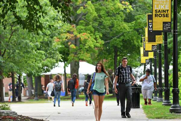 The College of Saint Rose campus on Thursday Sept. 8, 2016 in Albany, N.Y. (Michael P. Farrell/Times Union)