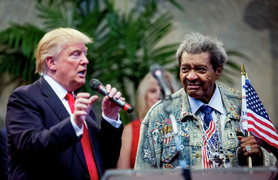Donald Trump, the Republican presidential nominee, shares the stage with ex-boxing promoter Don King during a campaign event in Cleveland Heights, Ohio. Readers comment on the race between Trump and Hillary Clinton. Photo: Eric Thayer /New York Times / NYTNS