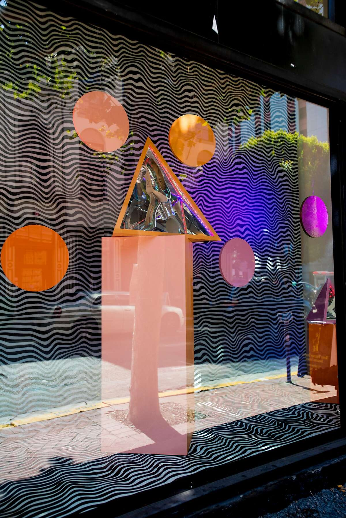 """A kaleidoscope-like """"optical installation"""" by photographer Anna-Alexia Basile was part of the opening festivities at Pia, a new designer womenswear boutique that opened Sept. 15 in Jackson Square"""