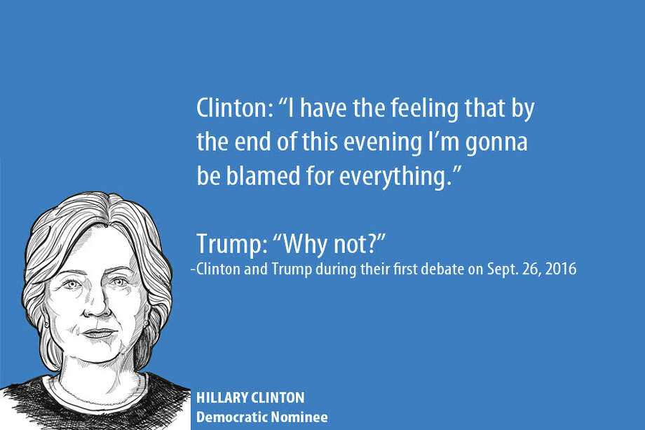 Zingers and one-liners between Hillary Clinton and Donald Trump during the first debate on Sept. 26, 2016. Photo: Ken Ellis