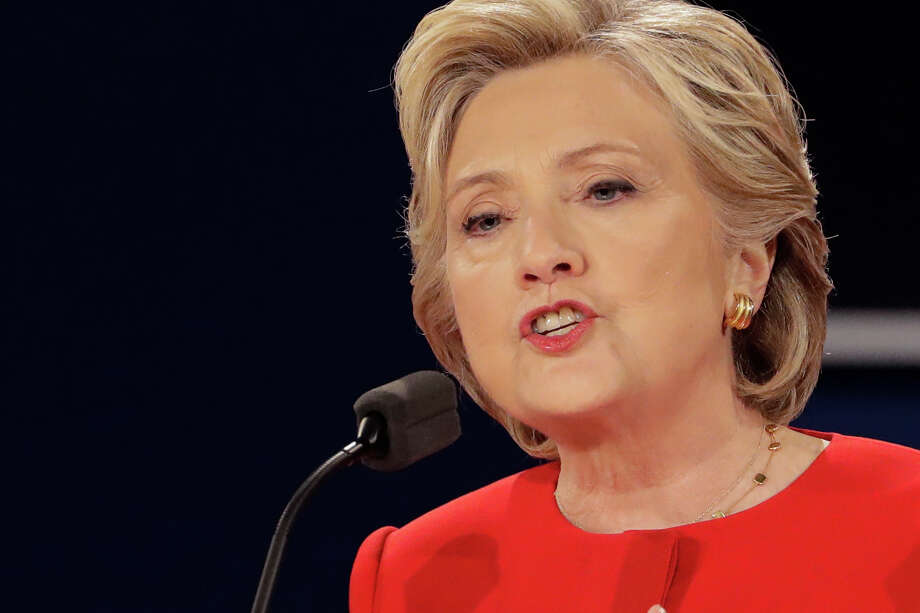 Democratic presidential nominee Hillary Clinton answers a question during the presidential debate with Republican presidential nominee Donald Trump at Hofstra University in Hempstead, N.Y., Monday, Sept. 26, 2016. Photo: David Goldman, AP / Copyright 2016 The Associated Press. All rights reserved.