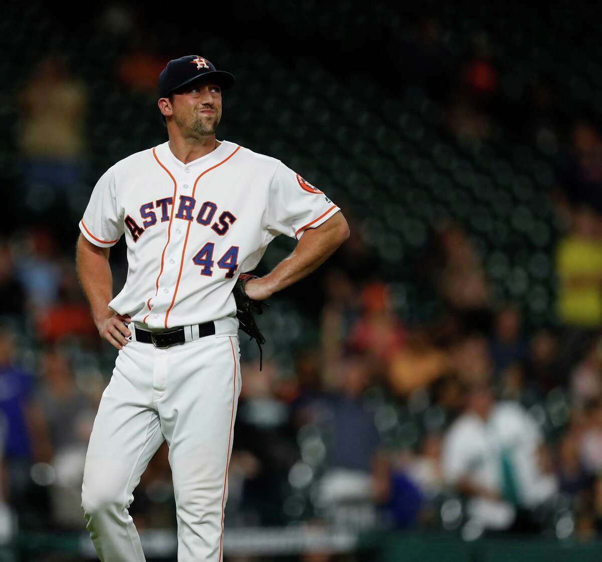 Astros reliever Luke Gregerson gave up Robinson Cano's game-winning solo home run in the 11th inning. It was the Mariners second baseman's second home run of the night and perhaps the most telling of his six homers at Minute Maid Park this season.