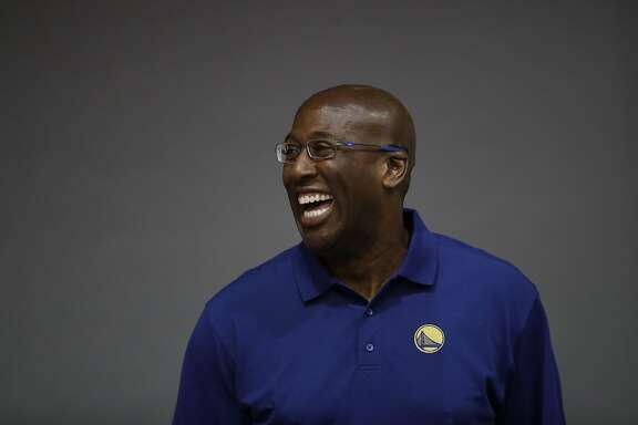 Golden State Warriors assistant coach Mike Brown during NBA basketball media day Monday, Sept. 26, 2016, in Oakland, Calif. (AP Photo/Marcio Jose Sanchez)