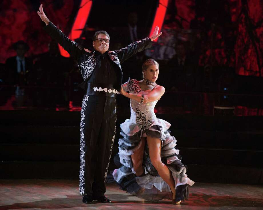 """Former governor of Texas, Rick Perry, dances the paso doble with partner Emma Slater during the live Sept. 26, 2016, broadcast of """"Dancing with the Stars"""" on ABC. Photo: Courtesy ABC / © 2016 American Broadcasting Companies, Inc. All rights reserved."""
