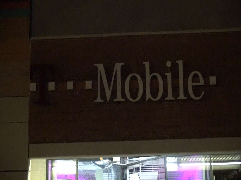 A screenshot of footage of a T-Mobile store in the 13500 block of the East Freeway in Houston, Texas. Around 1:45 a.m. on Sept. 27, 2016, a pickup truck smashed into the front door of the store. Police did not know if anything had been stolen. Photo: Metro Video Services, LLC/For The Houston Chronicle