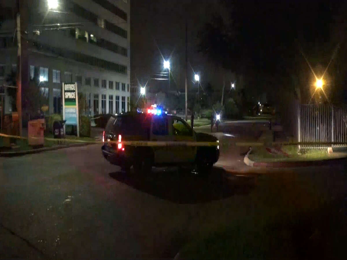 A screenshot of footage of the 2500 block of the South Loop West in Houston, Texas. Around 1 a.m. on Sept. 27, 2016, two males suffered gunshot wounds following a shooting outside a restaurant in the area.