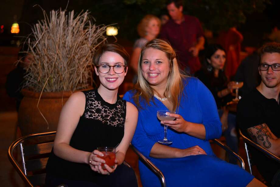 Locals gathered at Dorćol Distilling Company on Monday, Sept. 26, 2016, to see presidential candidates Donald Trump and Hillary Clinton go head-to-head in their first presidential debate. Photo: Kody Melton, For MySA.com