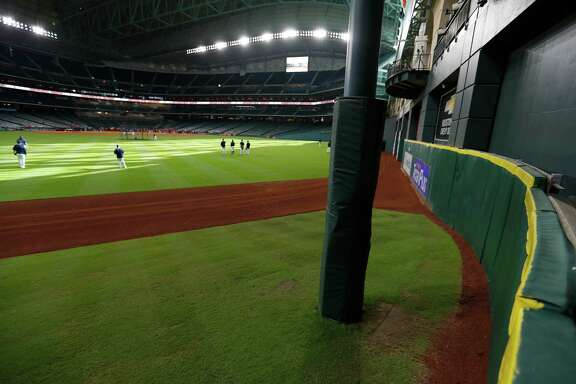 Tal's Hill in the center field, will be going away after this season at Minute Maid Park, Thursday, Sept. 22, 2016 in Houston.  ( Karen Warren / Houston Chronicle )