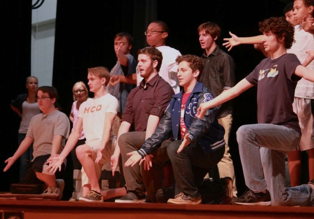 Cypress Creek High School theatre arts students rehearse for their upcoming performance of