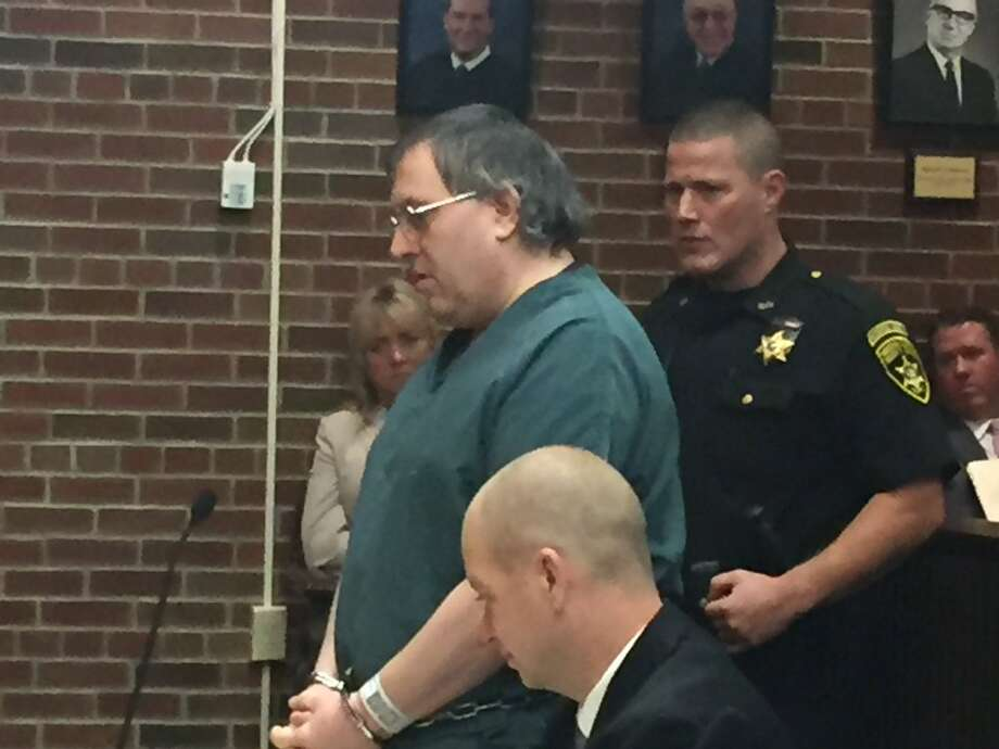 Child sexual predator Arthur Gannon is sentenced on Tuesday, Sept. 27, 2016, in Saratoga County Court to the maximum 69 years to life in prison for years of sexual torment of two young girls. (Robert Gavin/Times Union)