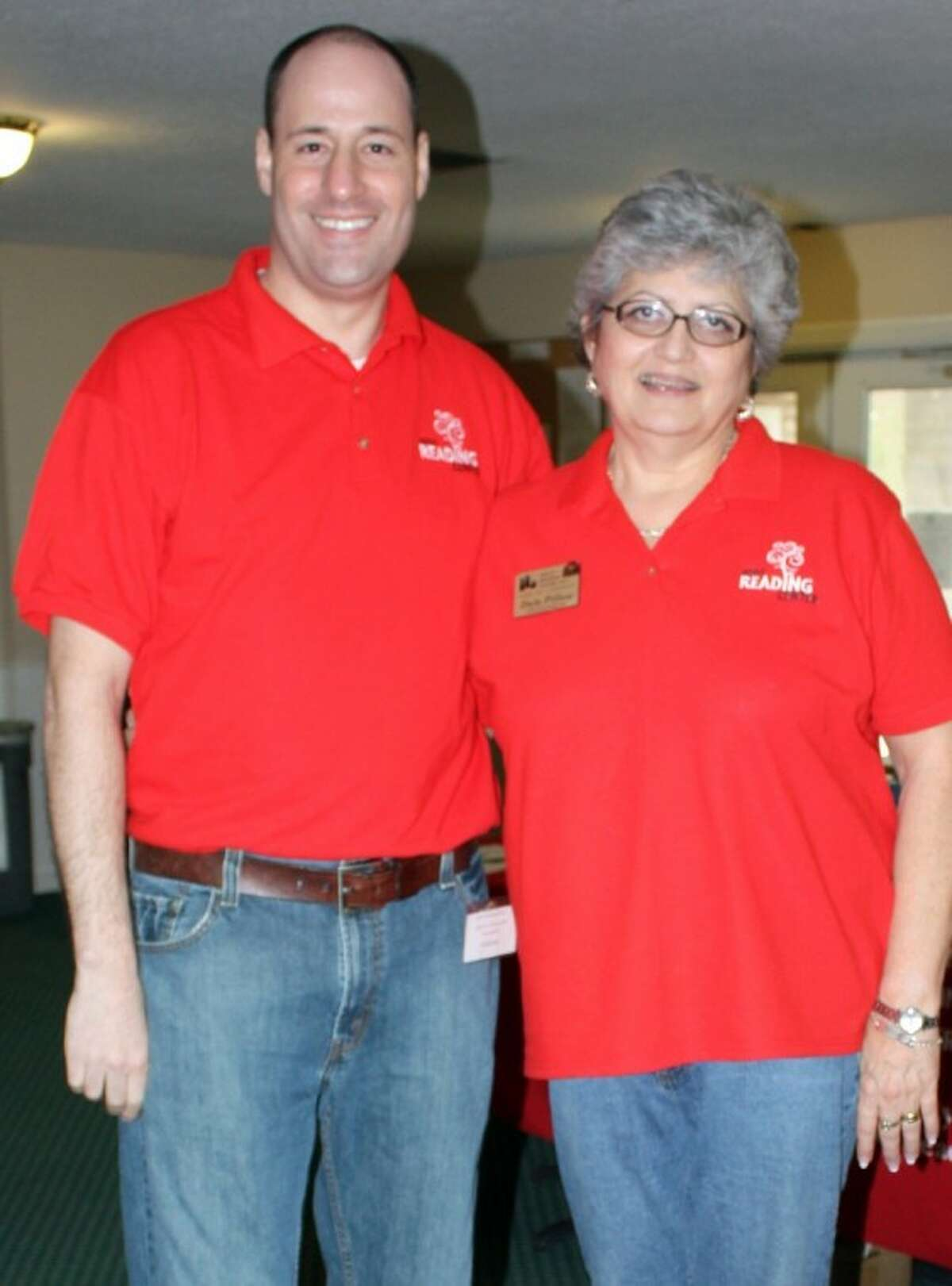 Pearland City Councilmember Scott Sherman and Adult Reading Center Executive Director Dale Pillow at the ARC Links to Literacy Golf Tournament 2011.