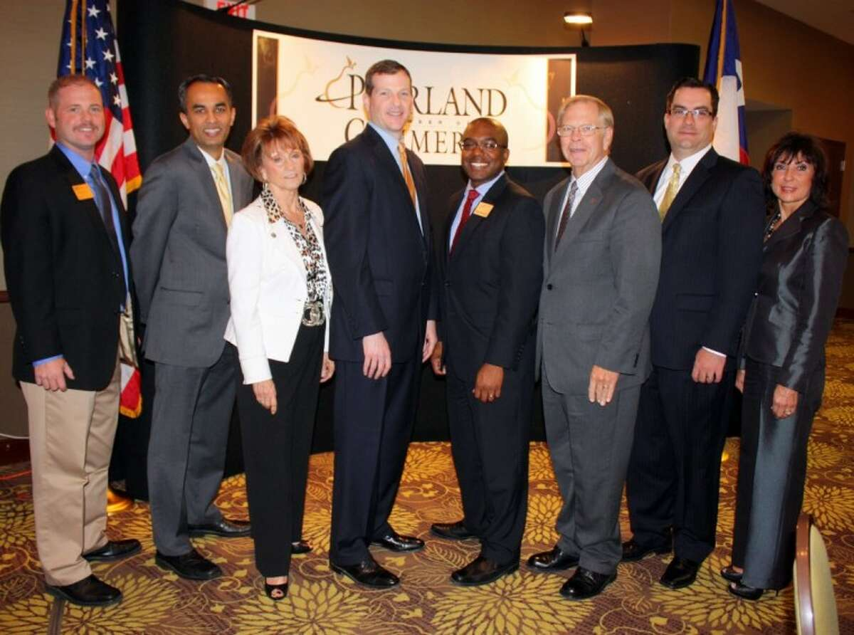 The Pearland Chamber of Commerce November Membership Luncheon held at the Hilton Garden Inn