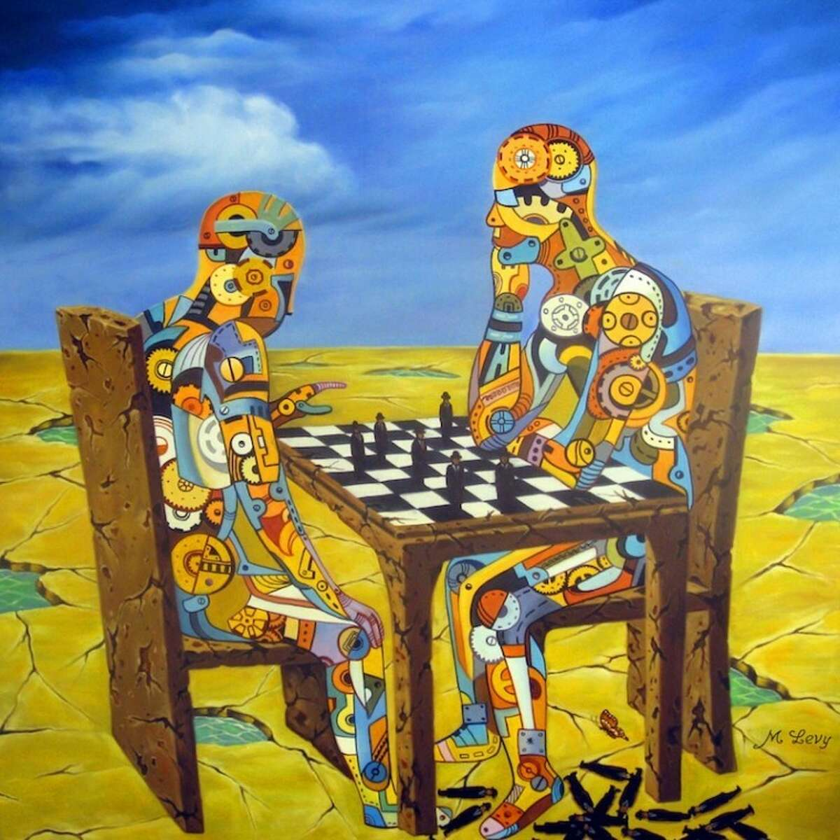 Houstonian Gilber M. Levy, a surrealist painter, will have his work featured at the First Saturday Arts Market on Jan. 7.