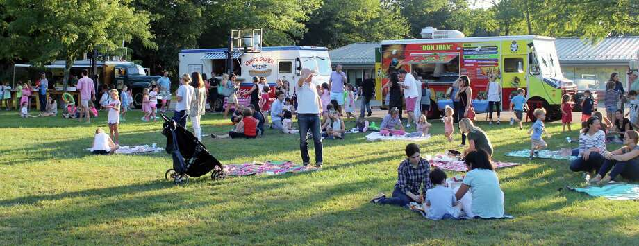 West School Families Picnic Courtesy Of Food Trucks At The Fall Family Fun Night