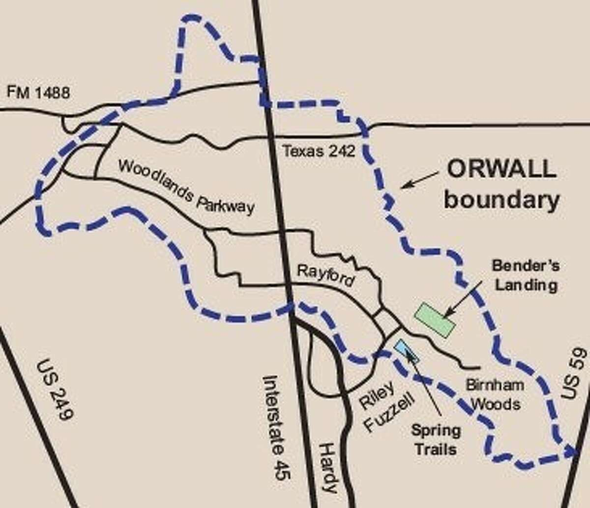Pictured are the new boundaries for ORWALL.