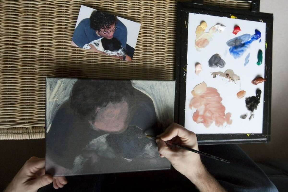 Bill Ferguson owns a business creating pet paintings from photographs.