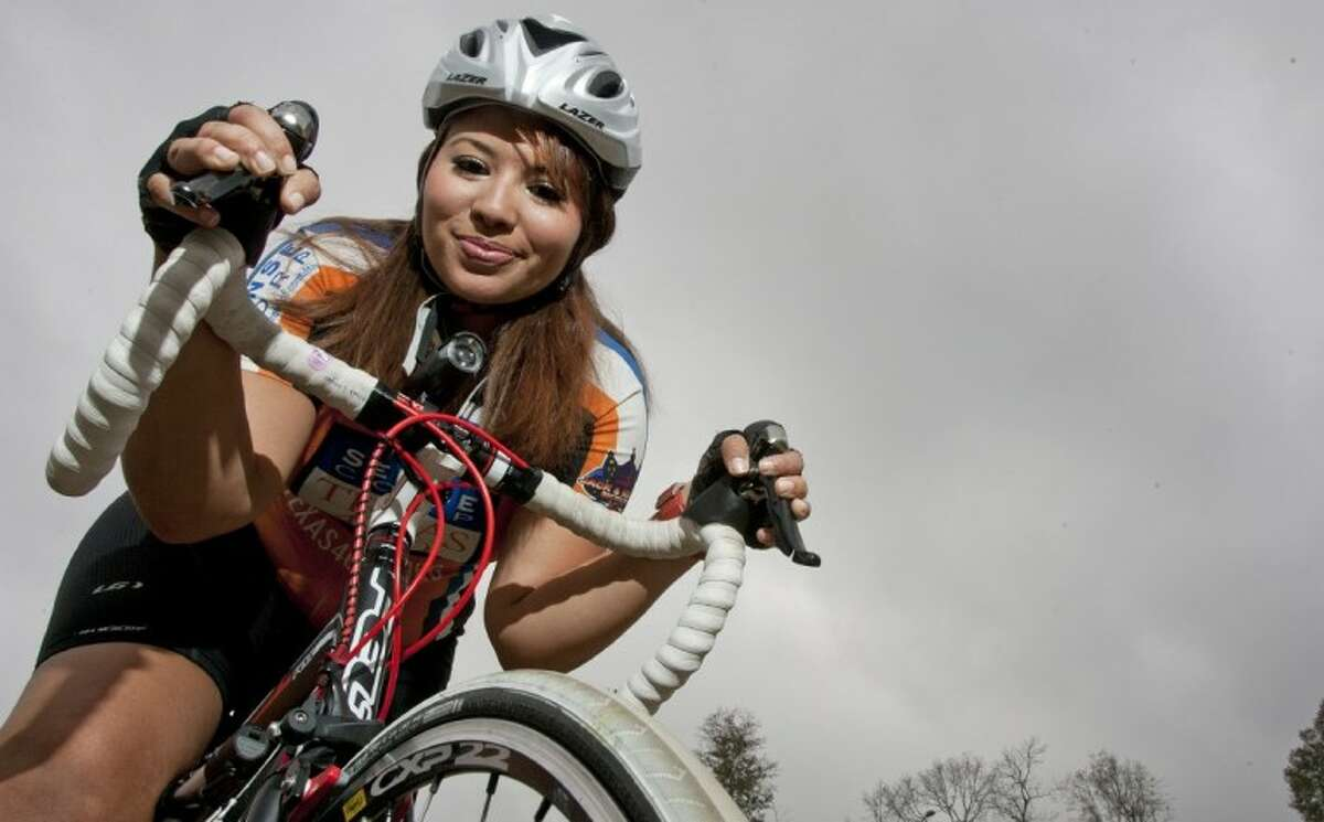 Maria Langlois, a University of Texas student, is gearing up to ride an upcoming Texas 4000 for Cancer charity bike ride from Austin to Anchorage.