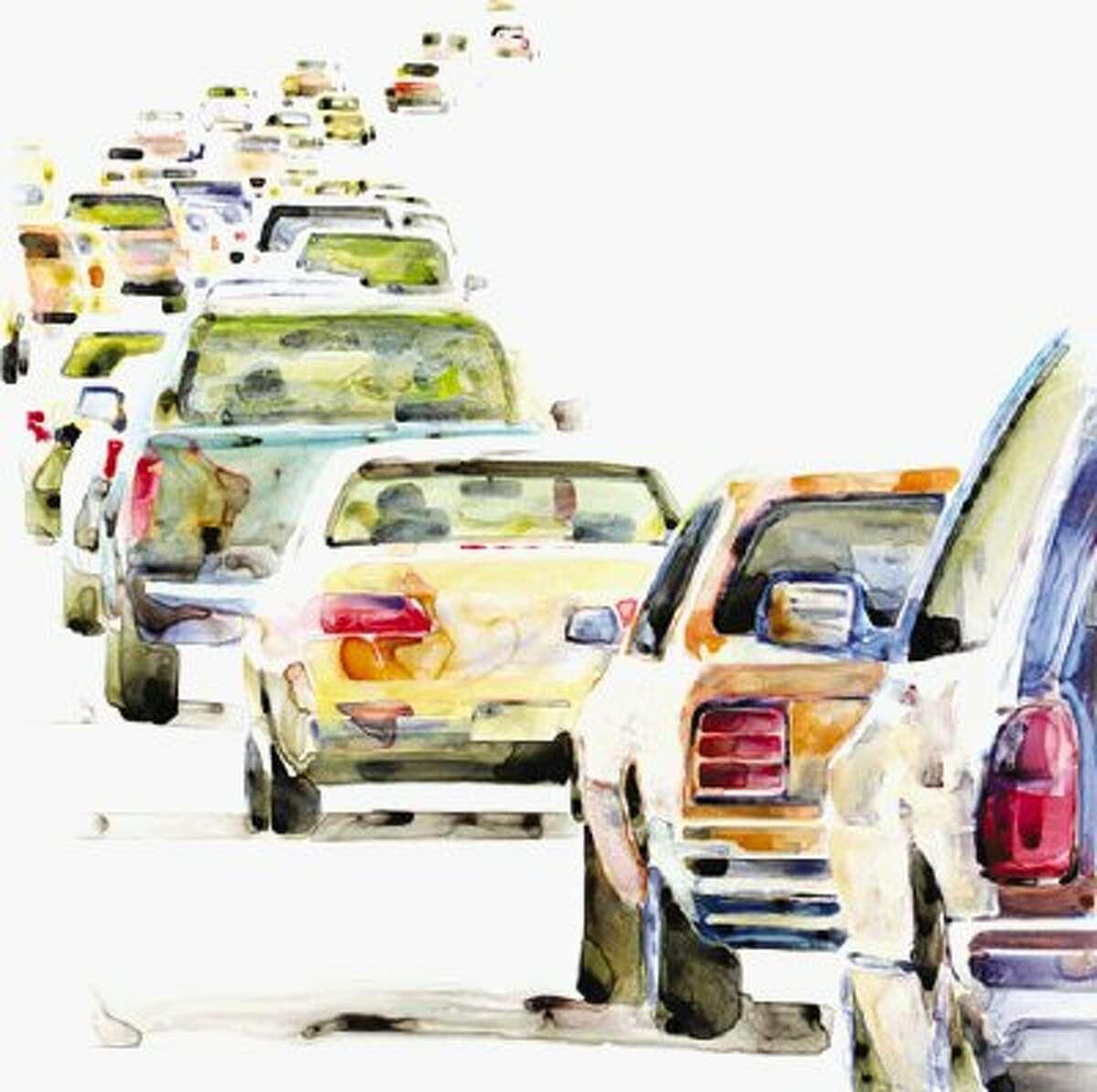 The exhibition Drive-By Landscape includes Lillian Warren's Trafficscapes.