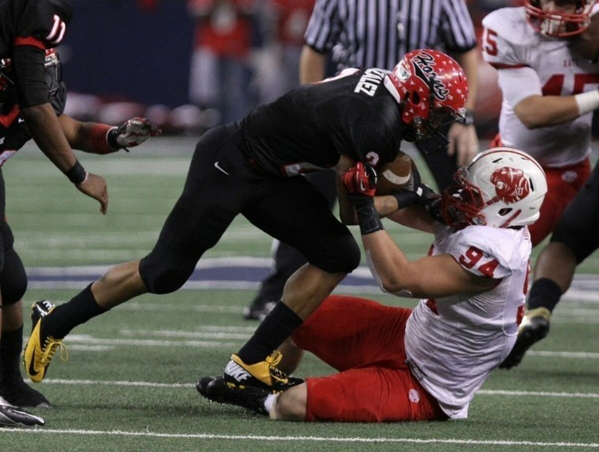 Katy defensive lineman Matt Dimon was voated co-MVP in District 19-5A.