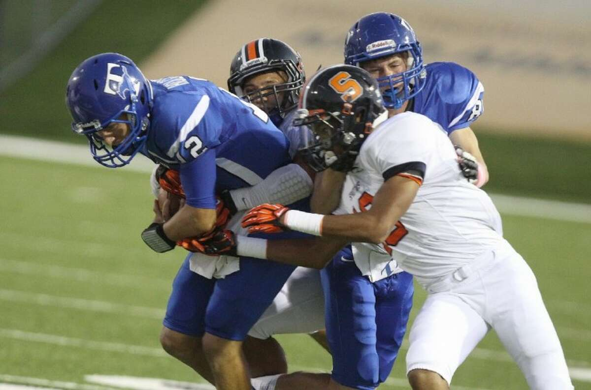 Taylor quarterback Clay Holgorsen was voted co-Newcomer of the Year in District 19-5A.