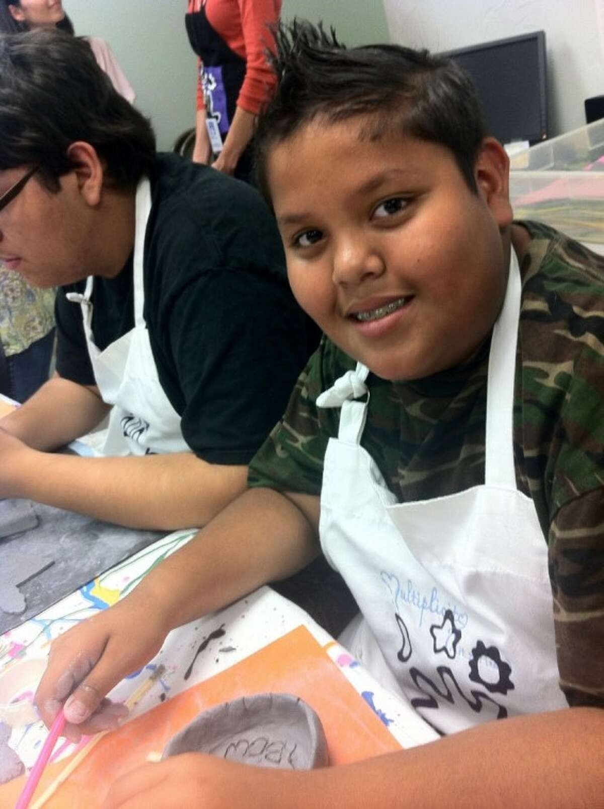 Kids enjoyed learning how to stay healthy through art.