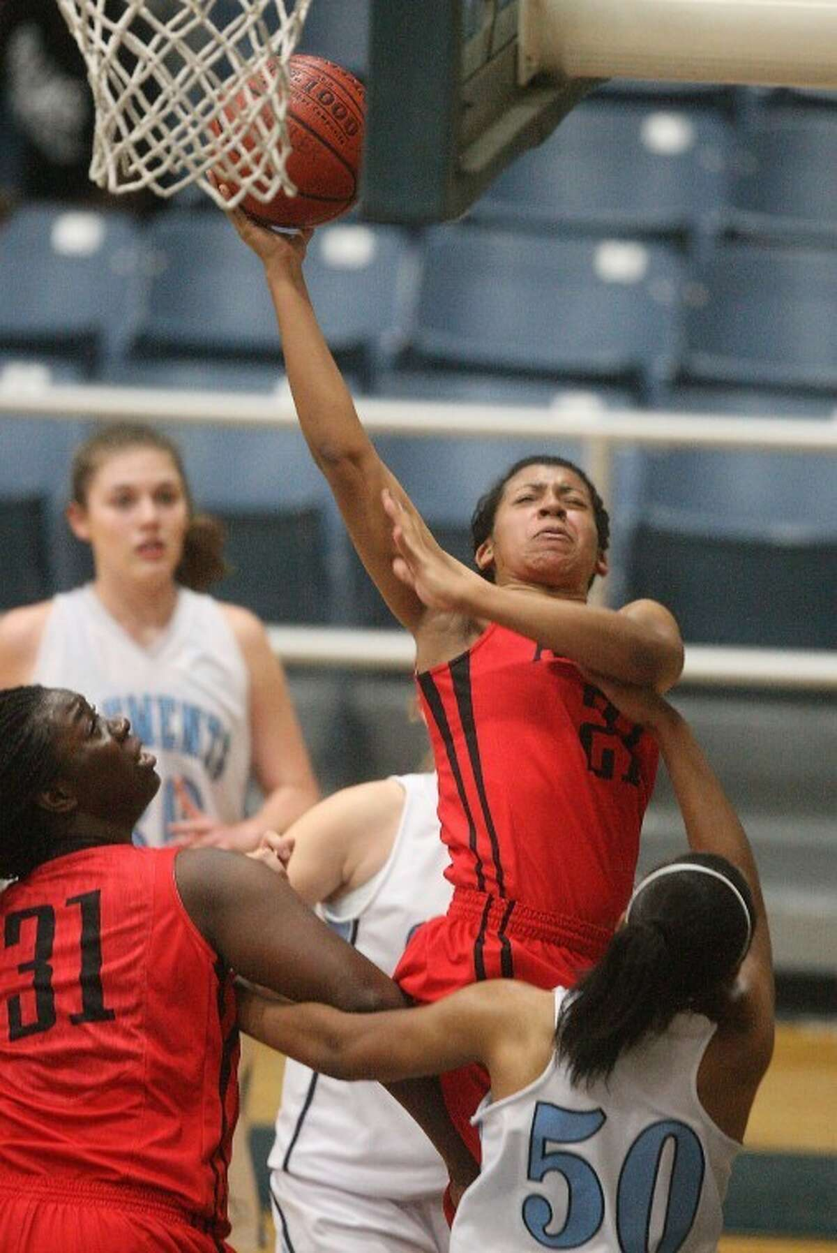 Natalie McGaughey led Austin with 20 points on Thursday as the Lady Bulldogs earned a pivotal victory over Clements. (Photo by Patric Schneider)