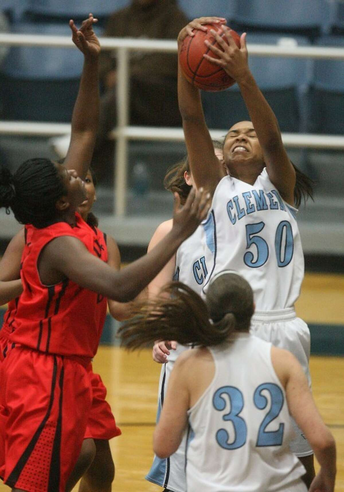 Madison Wilson scored a game-high 23 points for Clements, but the Lady Rangers fell to Austin at Wheeler Field House. (Photo by Patric Schneider)
