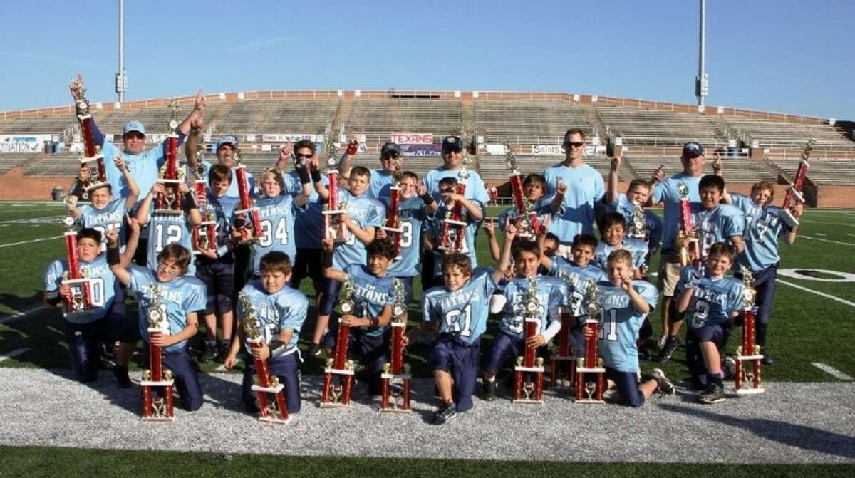 The Katy Youth Football Titans won the Junior Varsity Turf Bowl at Rhodes Stadium, finishing a near perfect season. It was the Titans' third straight appearance in the Turf Bowl.