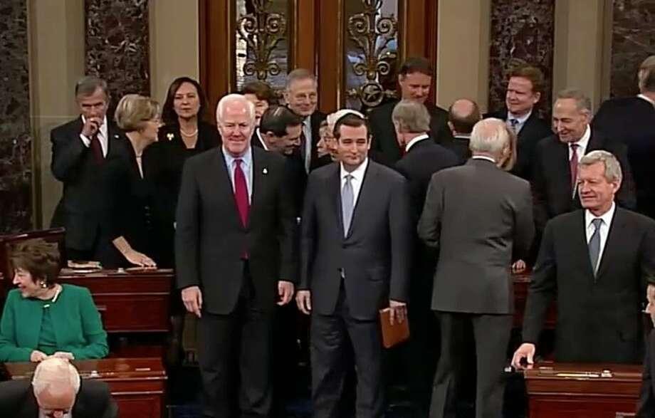 Cornyn (left) and Cruz.