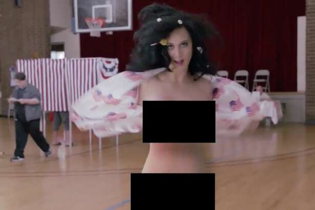 Katy Perry getting down to it in Rock the Vote video effort.