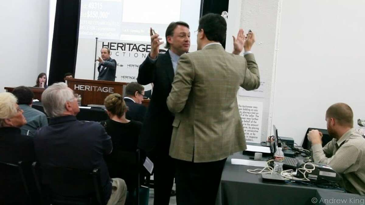 Attorney Robert Painter interrupts the sale of Tyrannosaurus bones belonging to the Mongolian government.