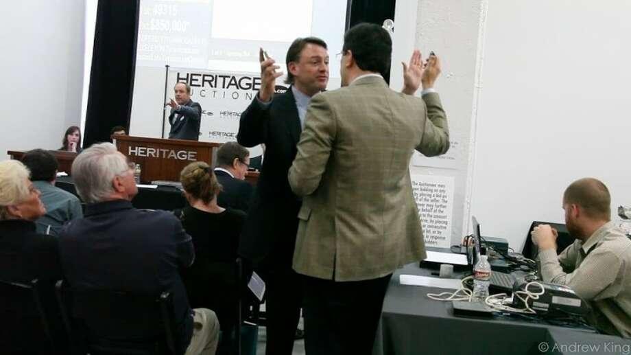 Attorney Robert Painter interrupts the sale of Tyrannosaurus bones belonging to the Mongolian government.