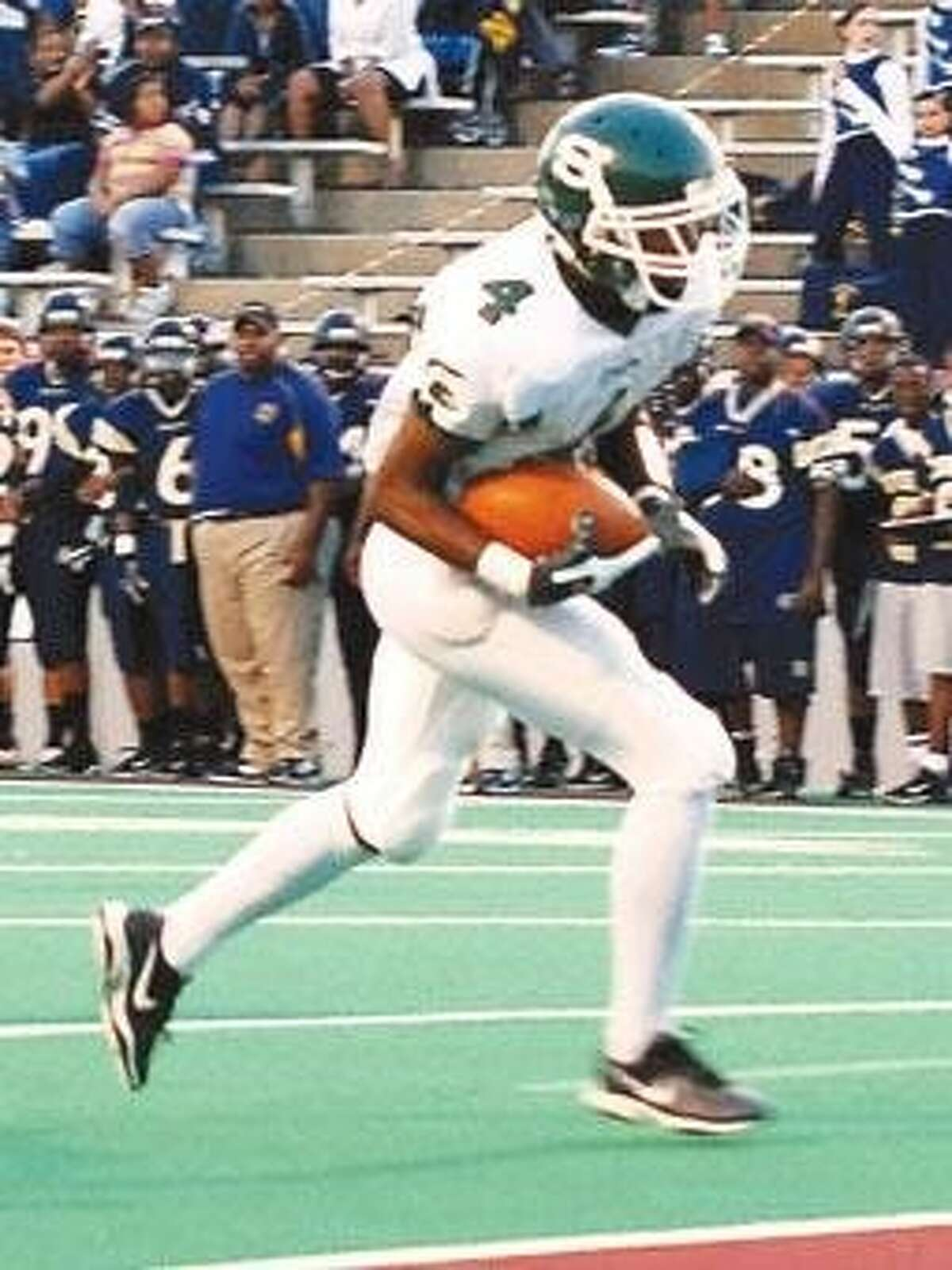 B.J. Griffin helped the Stratford football team win a district championship and an area championship before graduating in 2008.