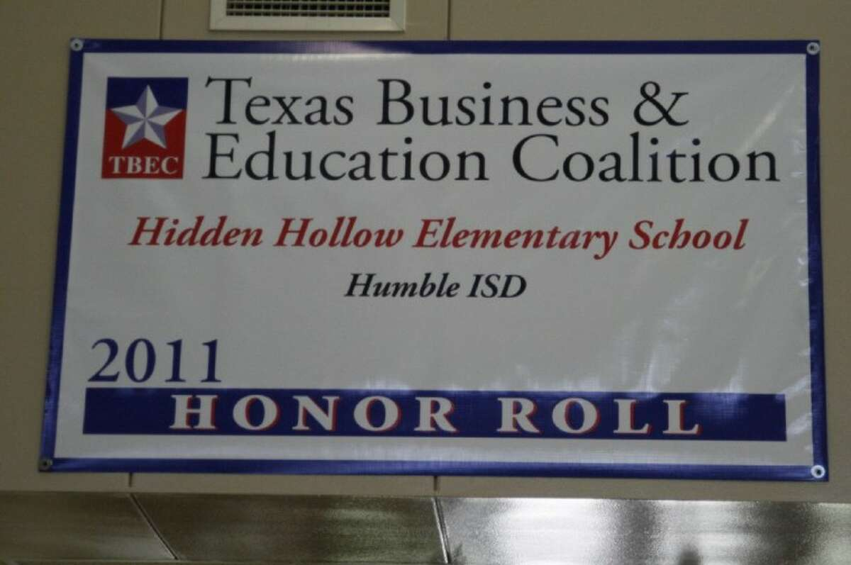 Hidden Hollow Elementary currently has a banner hanging in its main entryway displaying the school's recent honor of being named to the TBEC Honor Roll.