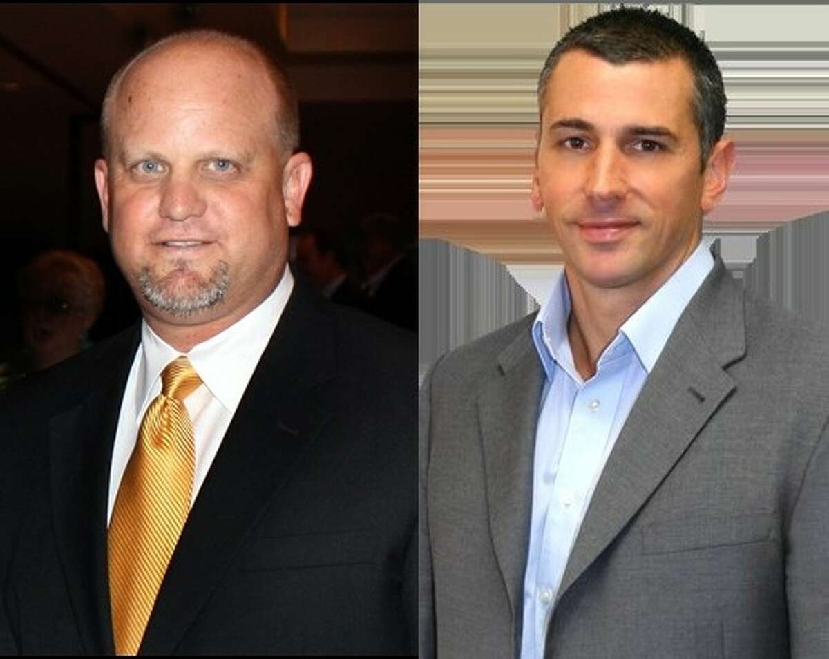 Kevin Cole (left) and Greg Hill (right) are competiting in a runoff election for Positive Five on the Pearland City Council. Hill was the front runner in the December special election with roughly 47.6 percent of the ballots. Cole walked away in second place with 38.9 percent of the votes. Early voting is now under way. Election Day is Saturday Jan. 14.