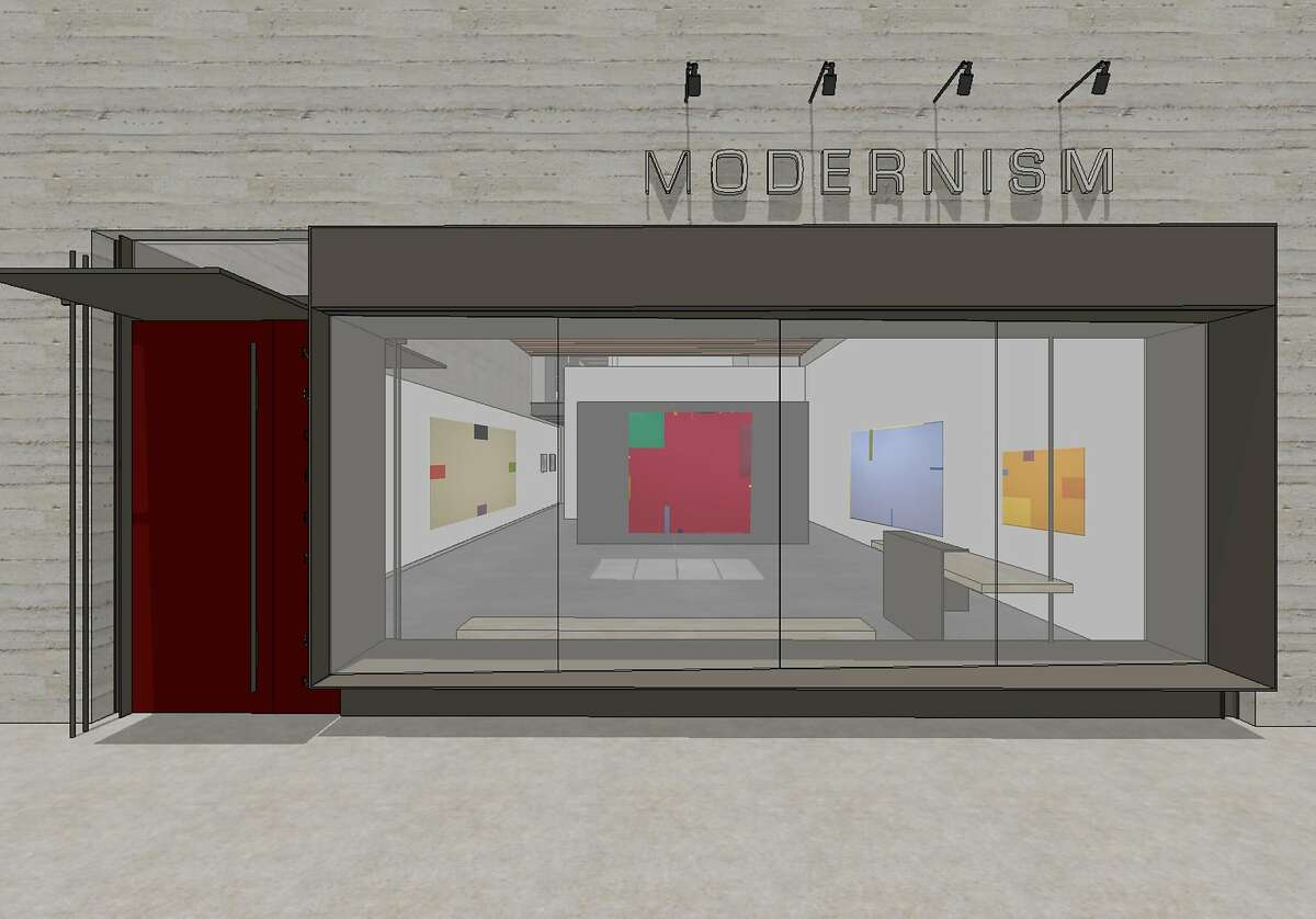 A rendering of the new facade of the gallery Modernism.