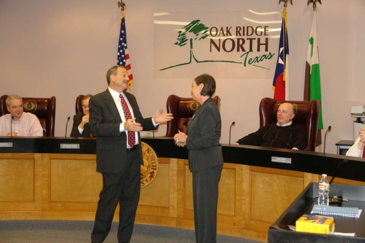 City Secretary Clasina Watson was honored by Mayor Joe Michels and the Oak Ridge North City Council Monday night for her five years with the city.