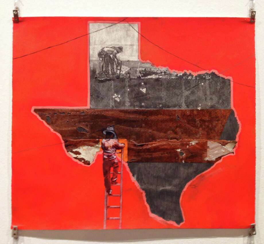 "Works from artist Raul Gonzalez's ""The Texas Series"" are featured in ""SATX/MX: Un Viaje Lleno de Cultura,"" the first exhibit to open at the Centro de Artes building since Texas A&M University-San Antonio left the space and the city took over. Photo: William Luther /San Antonio Express-News / ©2016 San Antonio Express-News"