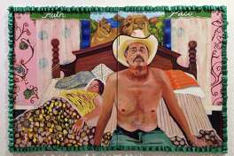 """Under the Mexican Colchas,"" a 2013 painting by Ruth Buentello, is one of the works in ""SATX/MX: Un Viaje Lleno de Cultura,"" the first exhibit to open at the Centro de Artes building since Texas A&M University-San Antonio left the space and the city took over."