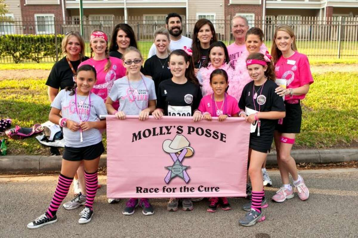 Molly's Posse members participate in the Komen Houston Race for the Cure.