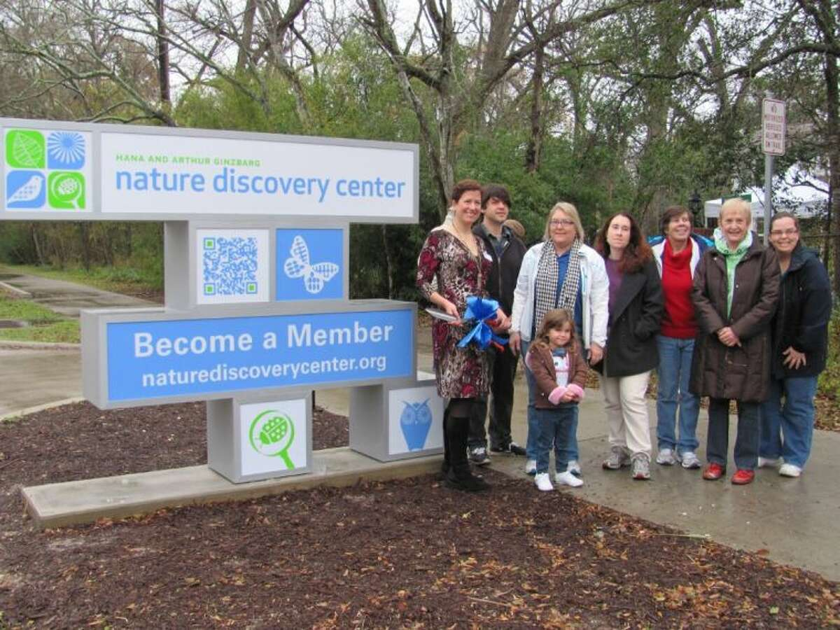 The staff of Nature Discovery Center plan to use new, specially-designed sign to inform area residents about upcoming programs and events.