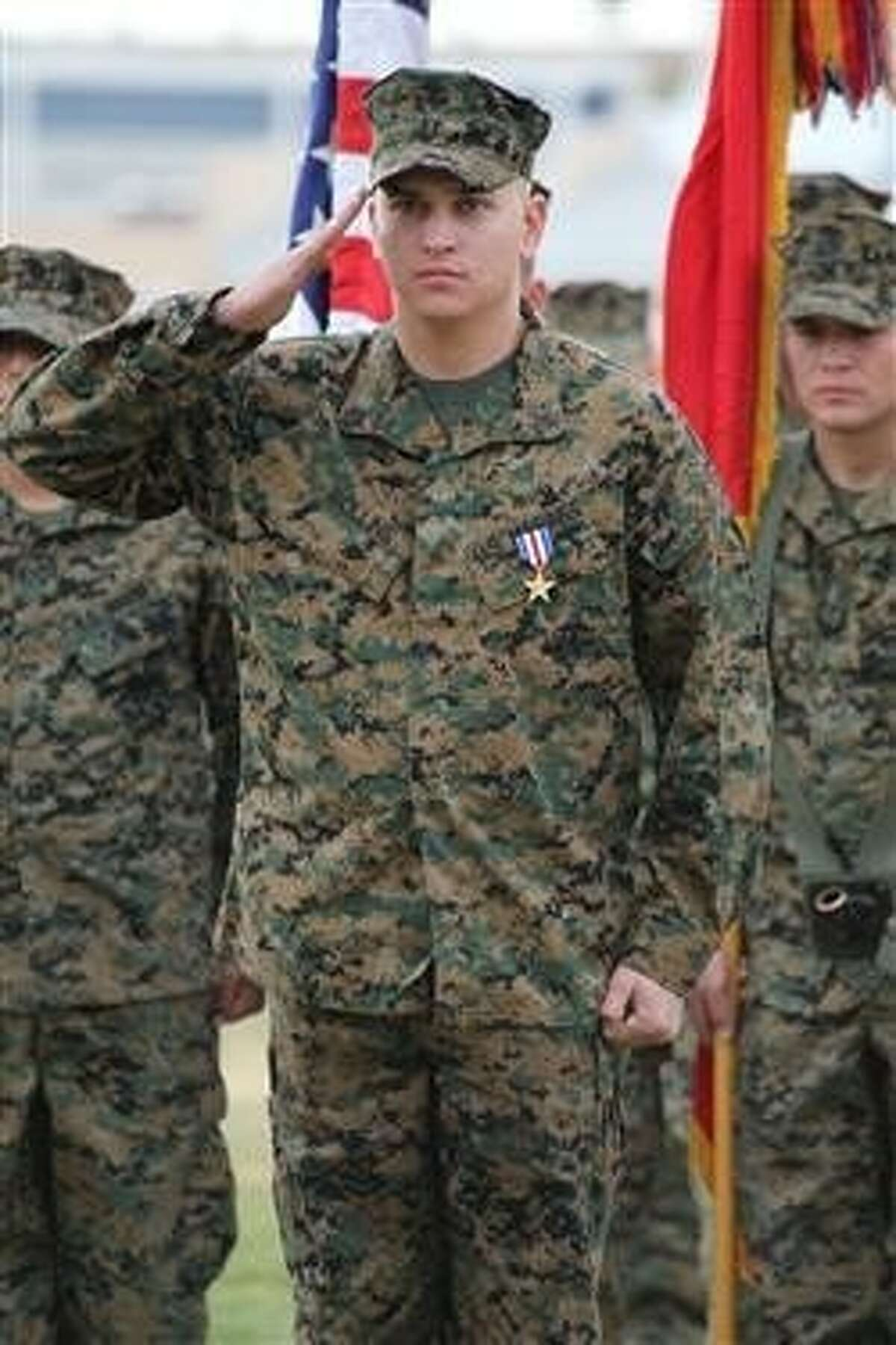 Marine Sgt. William W. Rollins was recently awarded a Silver Star for his valorous conduct in Afghanistan. He is credited with helping to save the lives of the members of his squad during an ambush with Taliban soldiers.