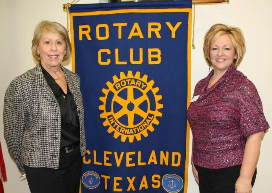 Rhonda Brown, right, was the guest speaker for the Cleveland Rotary Club on Jan. 9. She discussed how Relay for Life raises money for cancer research, treatment and to provide services to cancer patients. Shown on the left is Ernestine Belt, club president.