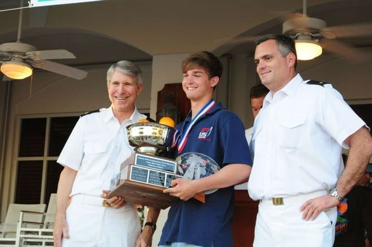 Kinkaid senior Greg Martinez traveled to Miami's Biscayne Bay during Christmas weekend and sailed to victory at the Orange Bowl International Youth Regatta.