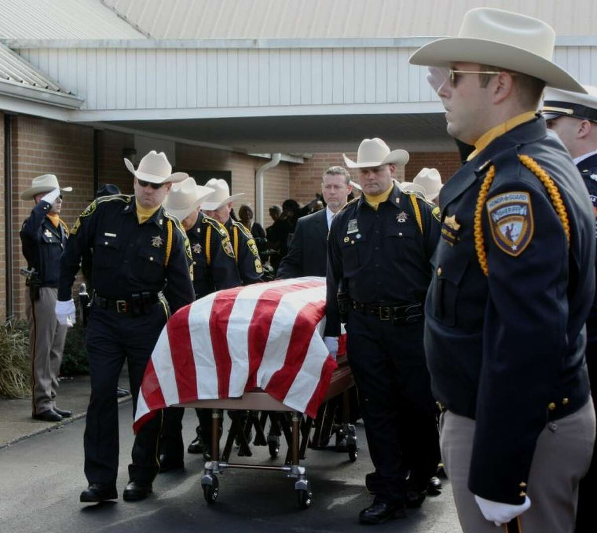 San Jacinto County Sheriff James Lewis Walters died on Jan. 9. His funeral was held on Jan. 11 at the First Baptist Church in Shepherd. Walters had been battling cancer for many months and died shortly after being sworn-in for his second term in office.